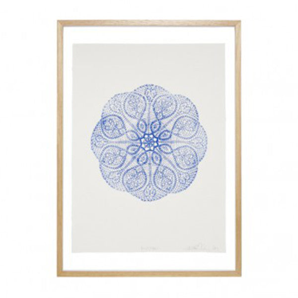 Prussian Blue Mandala Print - Lumiere Art + Co - Greenhouse Interiors - 1