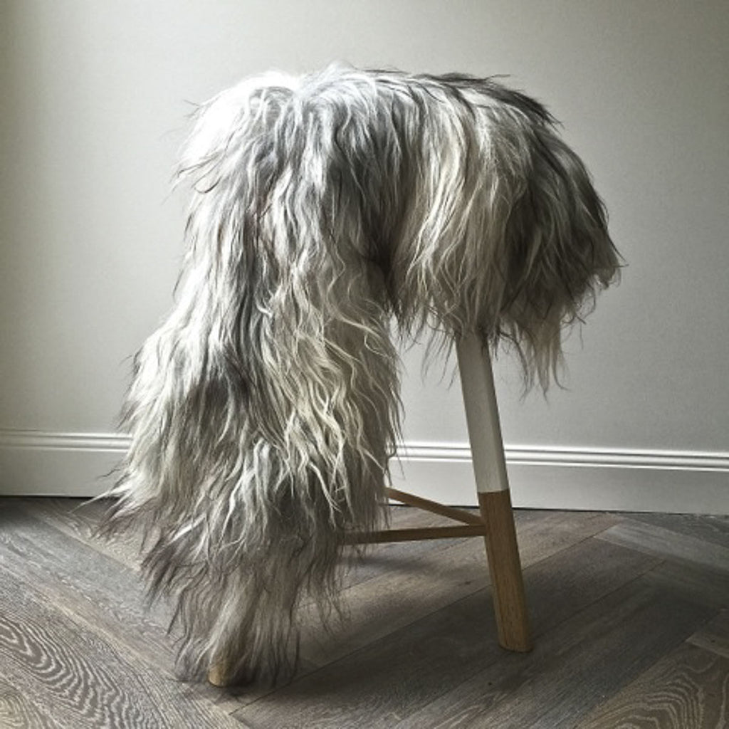 Icelandic Sheepskin Hide - Natural Grey - Society of Wanderers - Greenhouse Interiors - 2