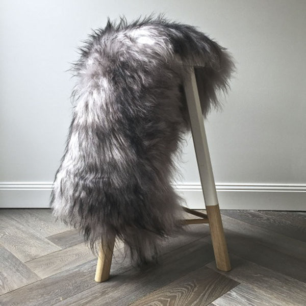 Icelandic Sheepskin Hide - Silver Flecked - Society of Wanderers - Greenhouse Interiors - 1