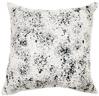 SPECKLED linen cushion - off white