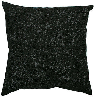 SPECKLED linen cushion (with insert) - black