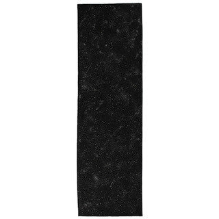 SPECKLED linen table runner - black