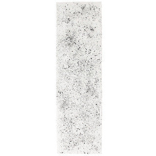 SPECKLED linen table runner - off white