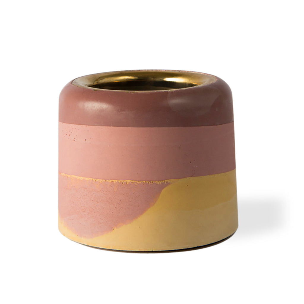 Gold Rim Vase - Sunset
