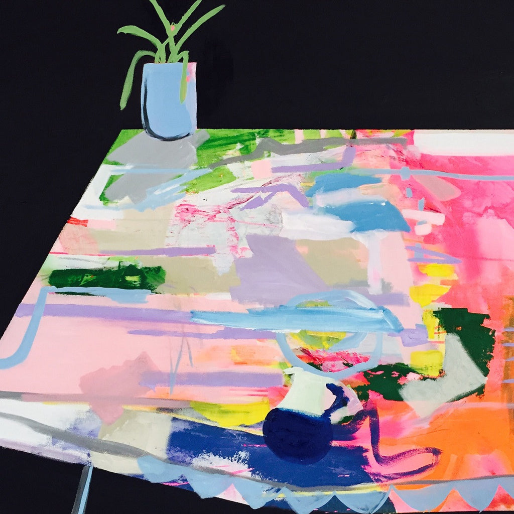 Tablecloth - original art - Ali McNabney-Stevens - Greenhouse Interiors