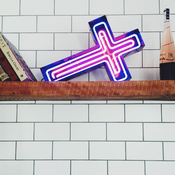 Saints + Sinners (glass neon)
