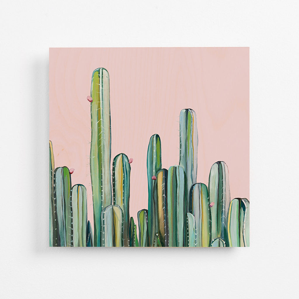 Cactus Field - Plywood Print
