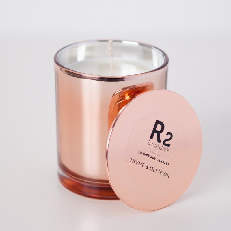 Copper Candle - Thyme & Olive Leaf