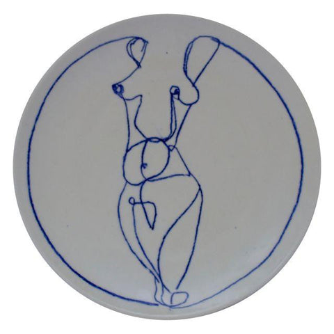 Nude C plate - one size
