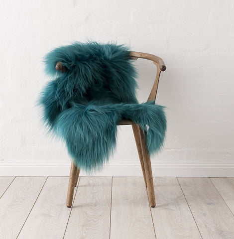 Icelandic Sheepskin Hide - Peacock Green