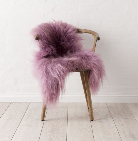 Icelandic Sheepskin Hide - Rose
