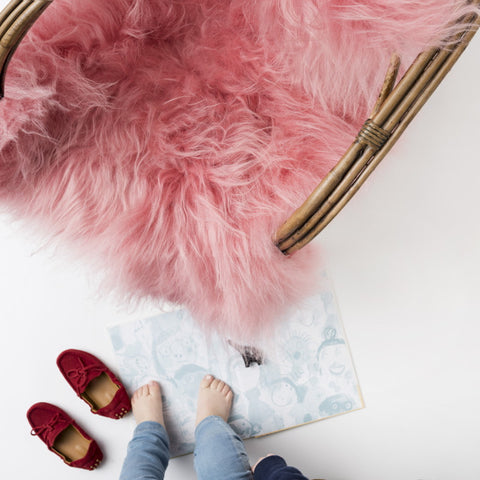 Icelandic Sheepskin Hide - Watermelon