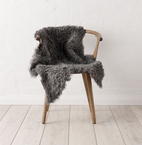 Swedish Curly Sheepskin - Dark Grey