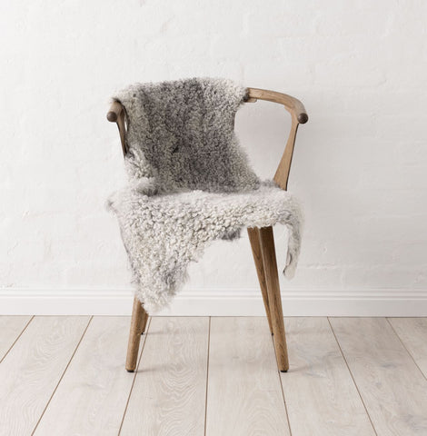 Swedish Curly Sheepskin - Light Grey