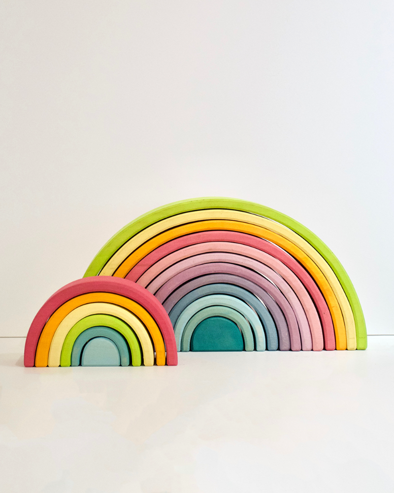 Grimm's Rainbow Stacking Blocks - Pastel