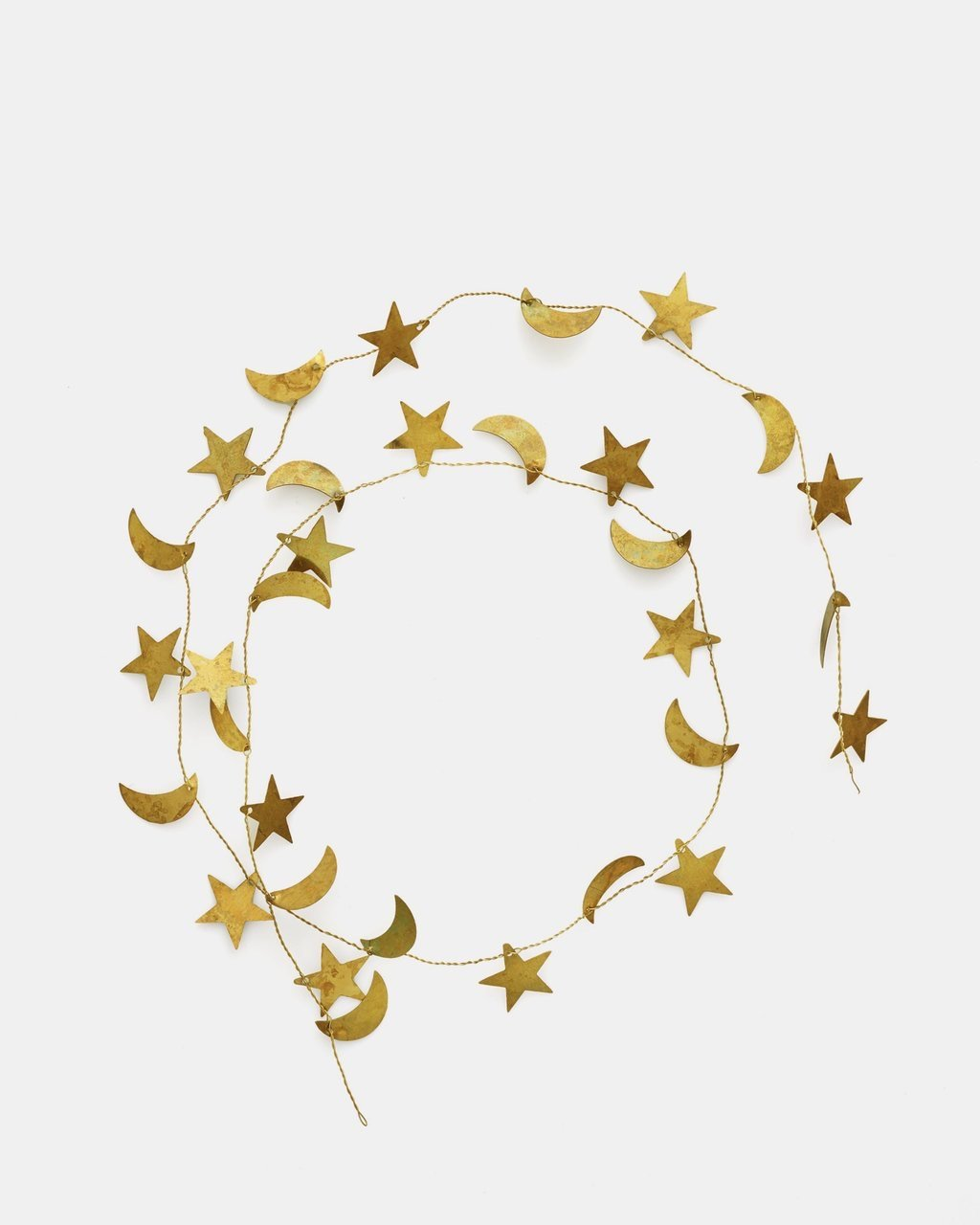 Brass Moon + Star Garland
