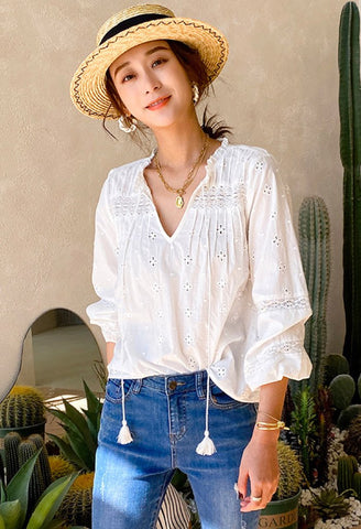 Virginia Eyelet Lace Blouse
