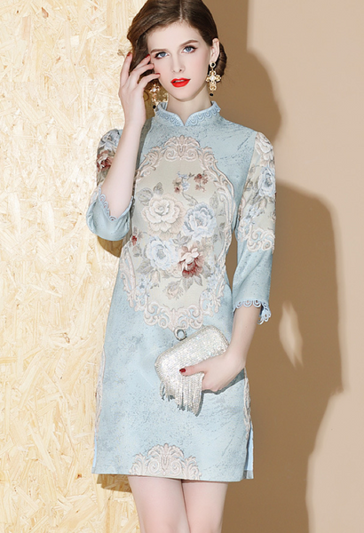 Cally Brocade Cheongsam