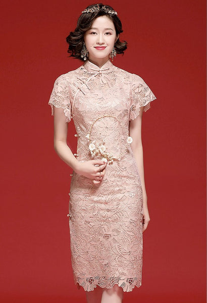 Evelyn Crochet Cheongsam