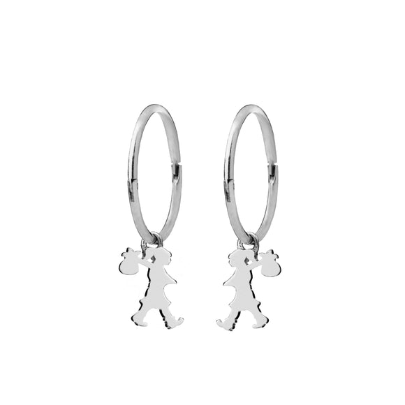 Karen Walker Runaway Girl Sleeper Earrings Silver