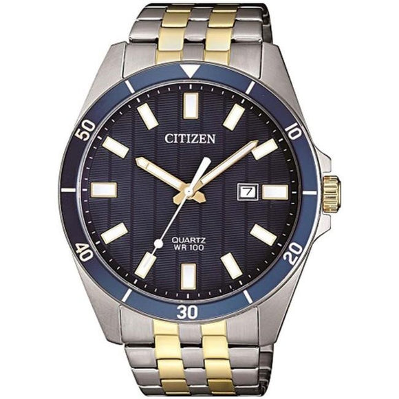 Citizen Gents Two Tone Watch with Blue Dial