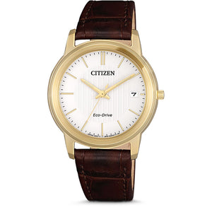 Citizen Ladies Gold Eco-Drive Leather Band