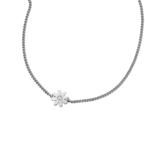 Karen Walker Mini Daisy Necklace Silver