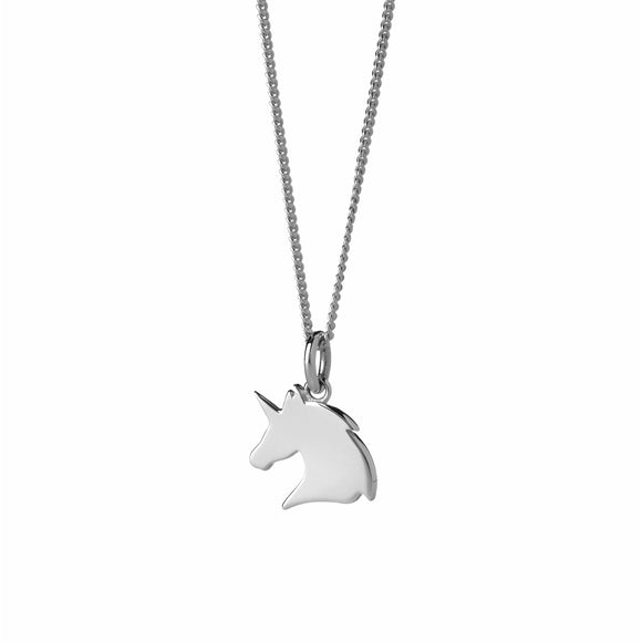 Karen Walker Mini Unicorn Necklace Silver