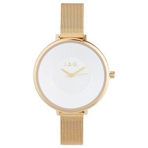 JAG Ella Watch Gold-Plated with Mesh Strap