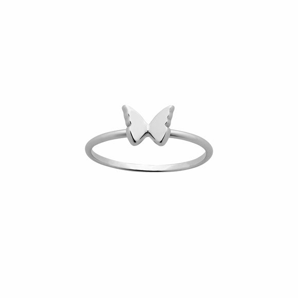 Karen Walker Mini Butterfly Ring Silver