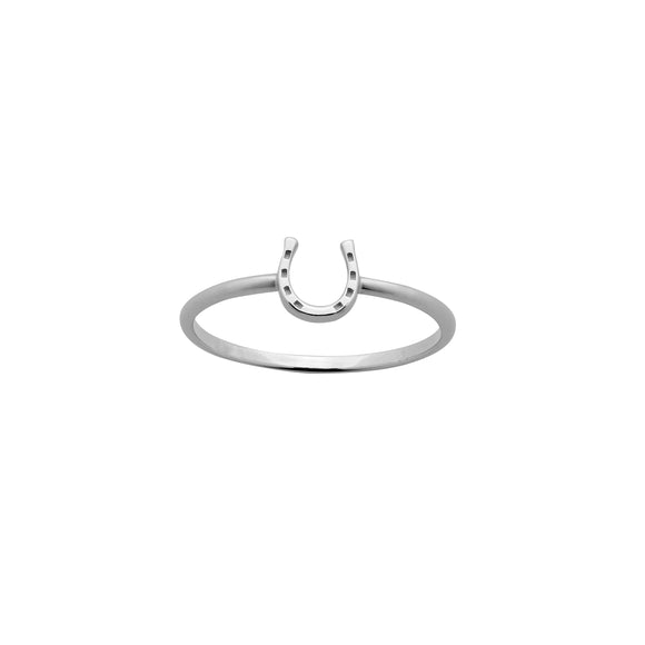 Karen Walker Mini Horseshoe Ring Silver