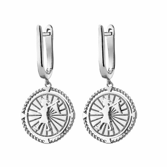 Karen Walker Voyager Earrings Silver