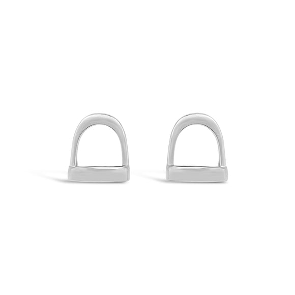 Stirrup Stud Earrings