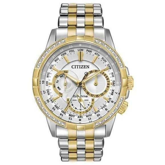 Citizen Gents Two-Tone Diamond Set Eco-Drive