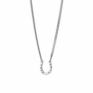 Karen Walker Mini Horseshoe Necklace Silver