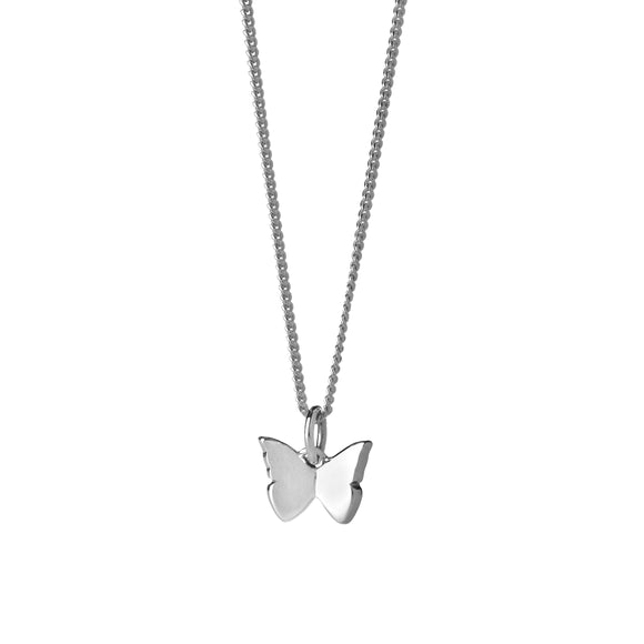 Karen Walker Mini Butterfly Necklace Silver