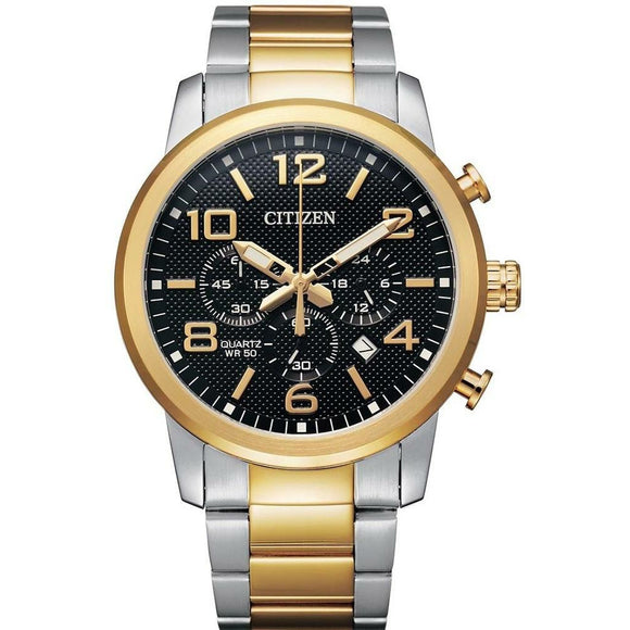 Citizen Quartz Gents Bi-tone Chronograph Watch