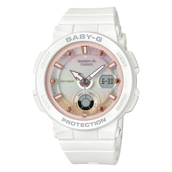 Casio Baby-G White with Rose Accents Duo