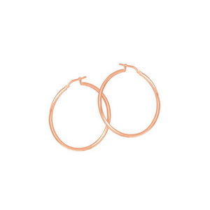 Sterling Silver Rose Hoop Earrings