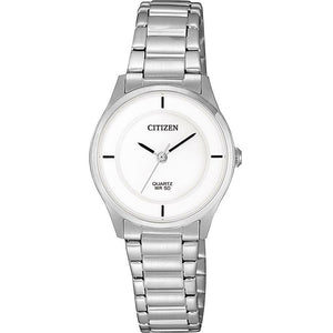 ER0201-81B Citizen Ladies Stainless Steel With White Dial