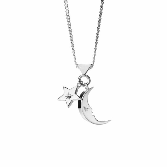 Karen Walker Moon & Star Charm Necklace