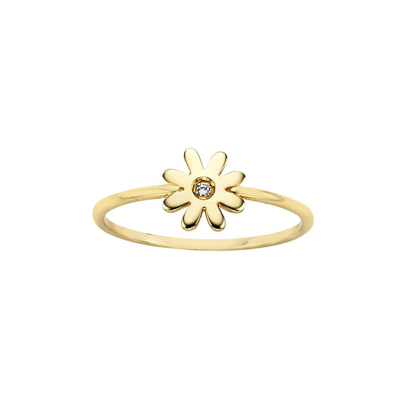 Karen Walker Mini Daisy Ring Gold
