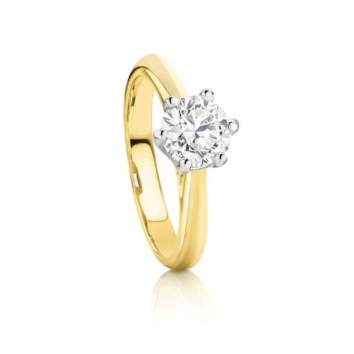18ct Yellow Gold 1.0ct Diamond Solitaire Ring