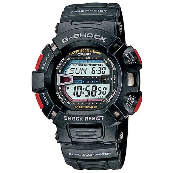 Casio G-Shock Mudman Black With Red Accents