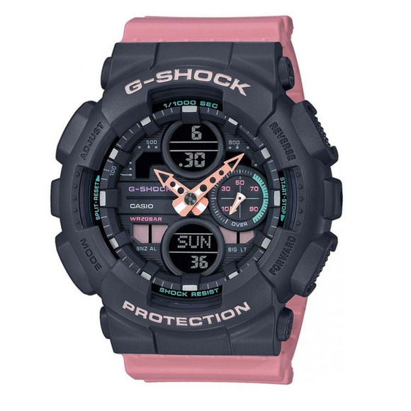G-Shock Womens Black & Pink Duo Sports
