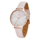 JAG Sophie Rose Gold Watch with Textured Blush Leather Strap