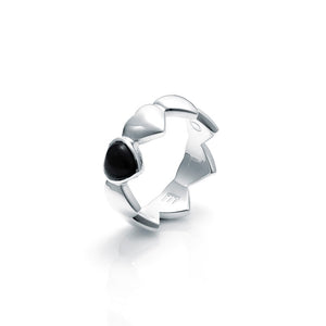 Stolen Girlfriends Club Band Of Hearts Onyx Ring
