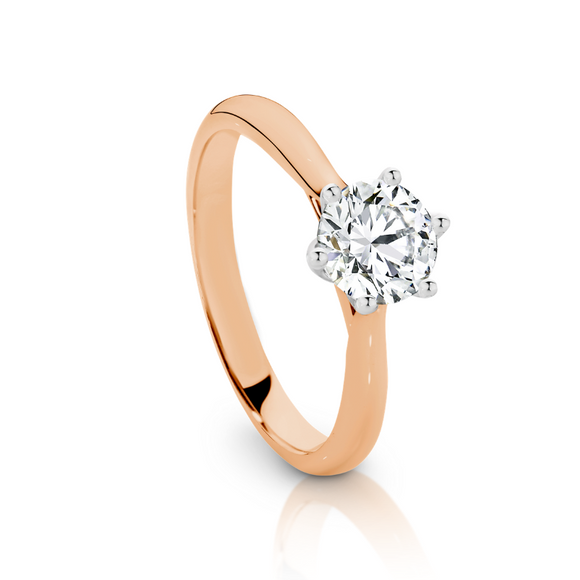 Rose Gold half carat Solitaire engagement ring