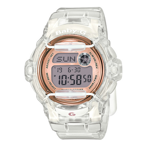 Casio Baby-G Clear With Rose Dial