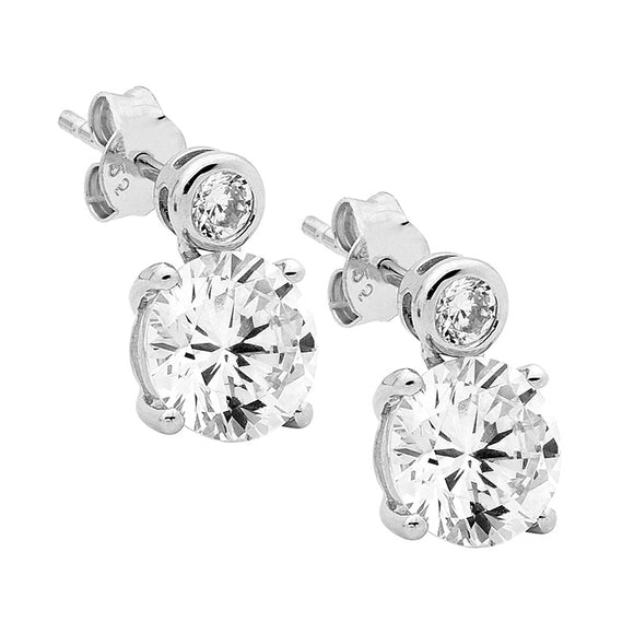 Ellani CZ Stud Earrings